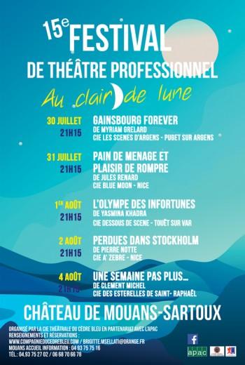 15e Festival de Théâtre professionnel Au clair de lune