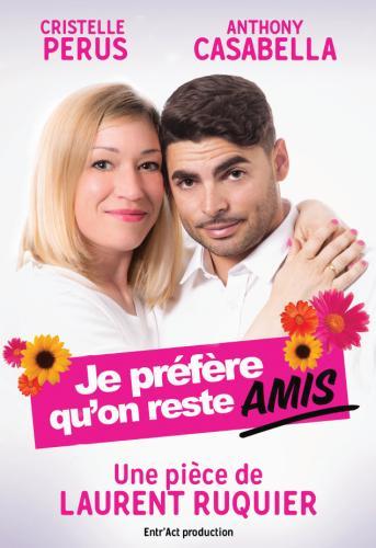 «JE PREFERE QU'ON RESTE AMIS» de Laurent RUQUIER Mercredi 31 juillet au Château de Mouans- Sartoux 21h15