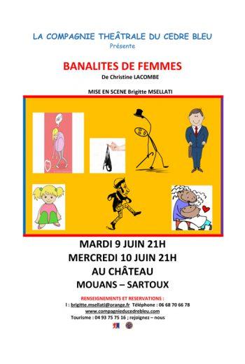 BANALITES DE FEMMES DE Christine LACOMBE Comédie