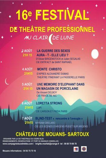 16ème FESTIVAL DE THEÂTRE PROFESSIONNEL